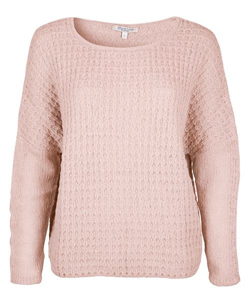 Alma & Lovis Relief edler Strickpullover in Blush