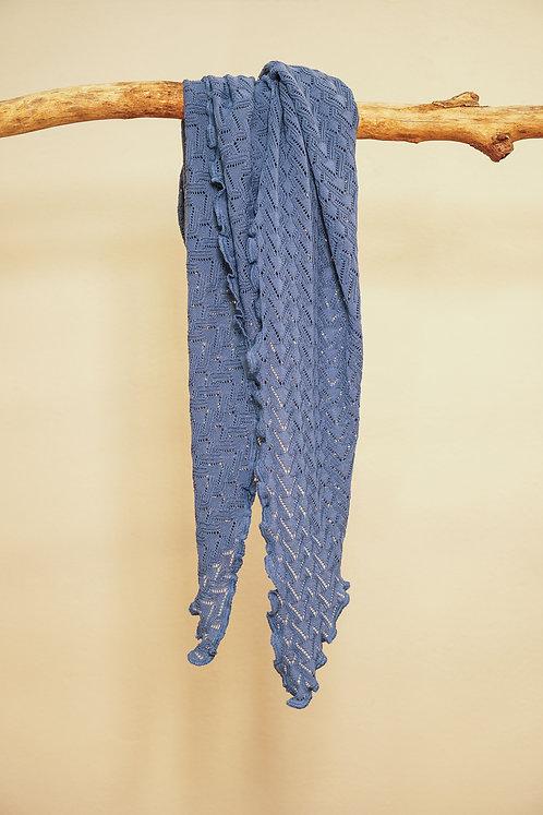 Invero Dreiecktuch Susi aus Merinowolle in Jeans