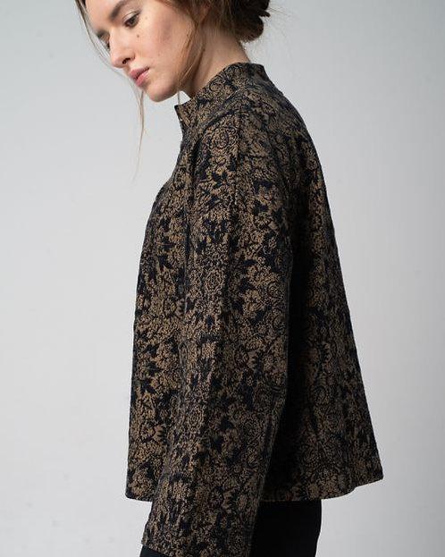 Alma & Lovis Brokat Jacket elegante Jacke in Anthra