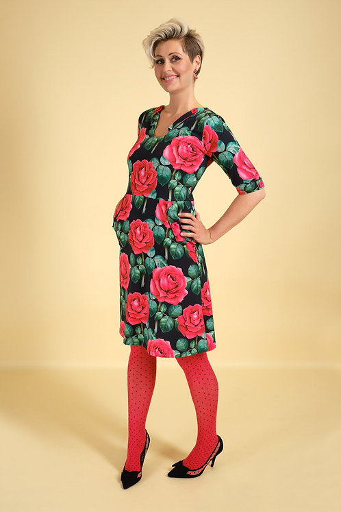MARGOT Kleid mit Rosen Rosie Runway