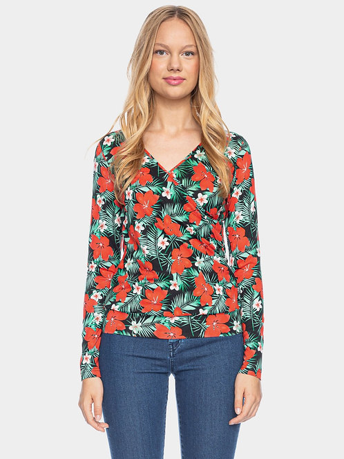 ATO Berlin Emma - Langarm Shirt mit Blumen Print