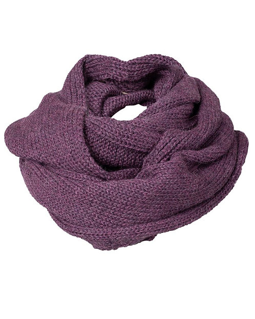 Alma & Lovis RIB LOOP Schal Unifarben in Purple