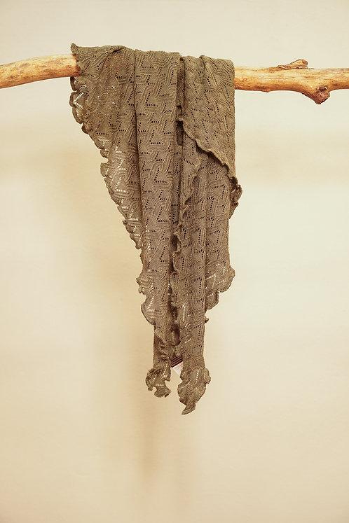 Invero Dreiecktuch Susi aus Merinowolle in Moos