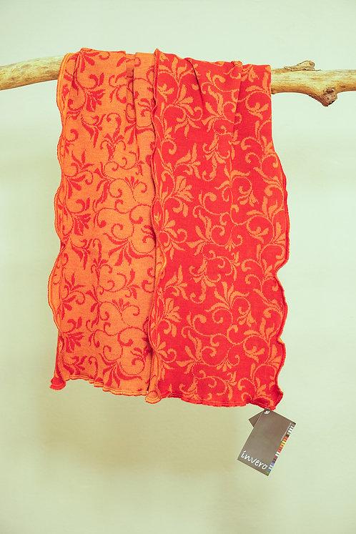 Invero Schal Candy mit Rankenmuster in Orange