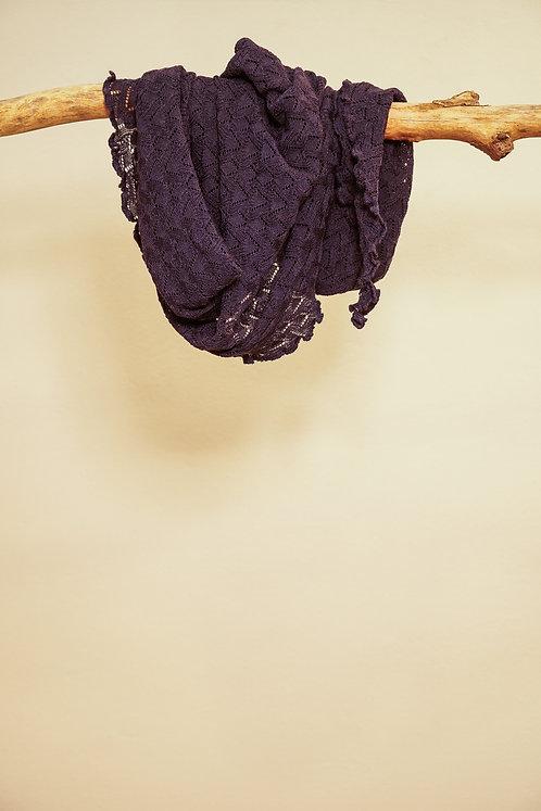 Invero Dreiecktuch Susi aus Merinowolle in Blau