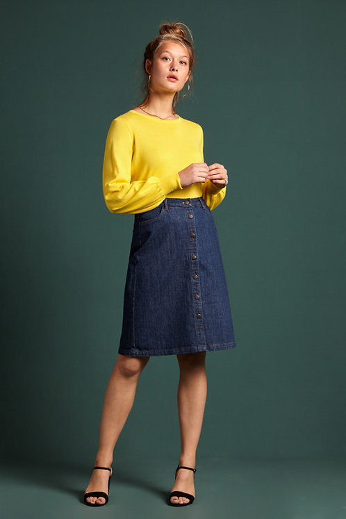 King Louie Angie Skirt Organic Denim