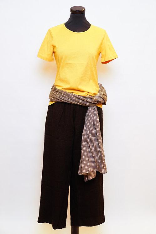 Lana Shirt Emilia in Sepia Yellow
