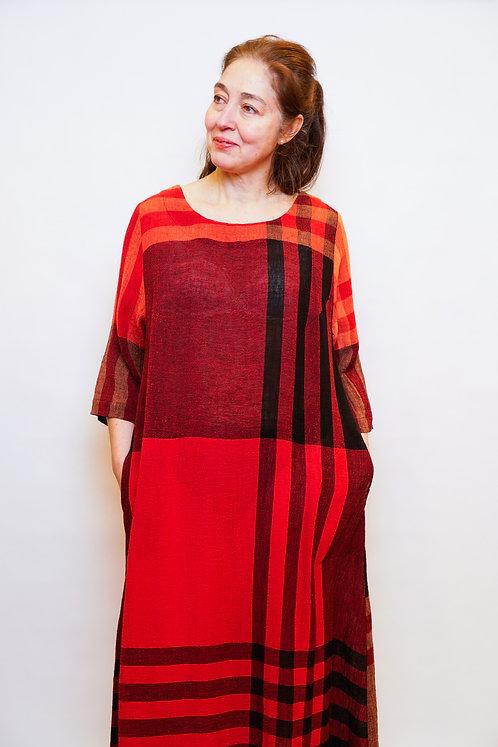 Manon Maxikleid in Rot