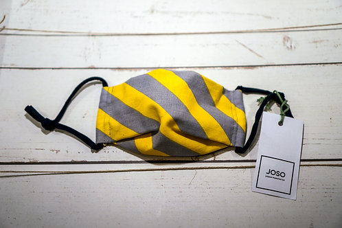 JOSO Design Manufaktur Gesichtsmaske Grau/Gelb