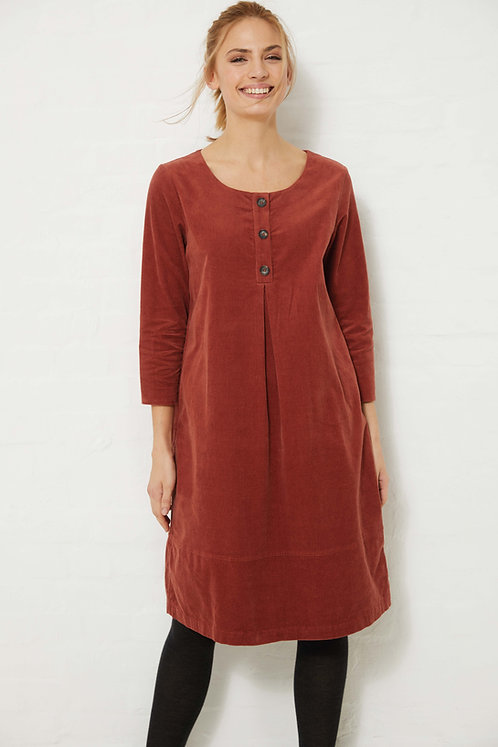 Madness Cord-Kleid in Spice