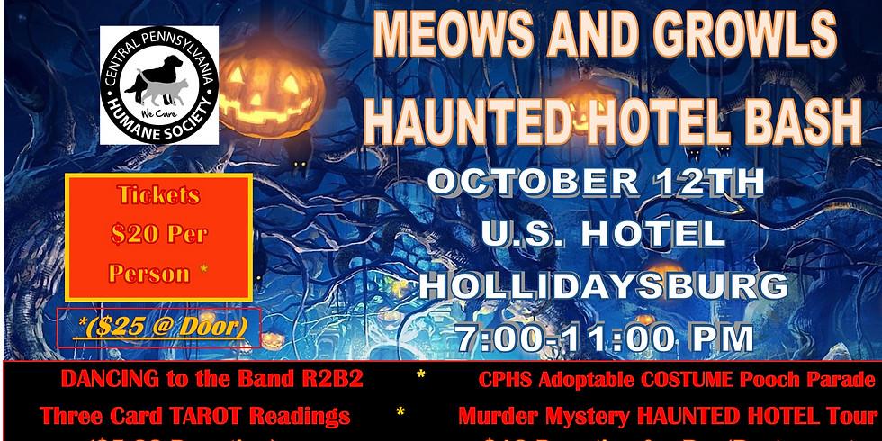 Meows & Growls Haunted Hotel Bash