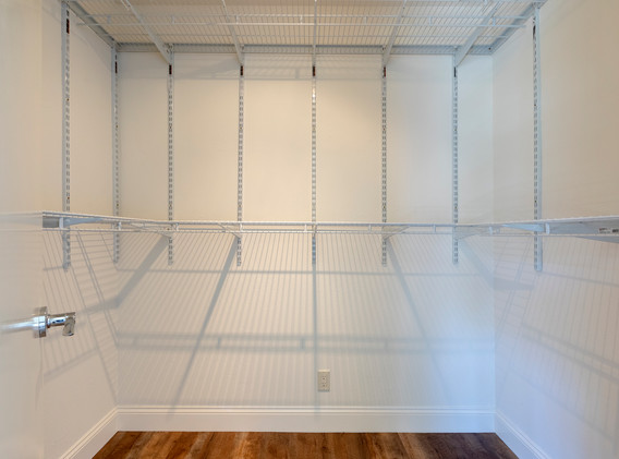 One of two walk in closets