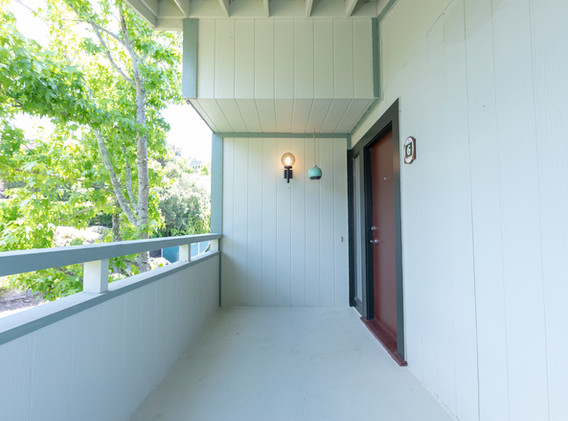 Private Front Deck & Entry
