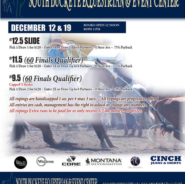 DECEMBER 12 & 19TH | TEAM ROPING