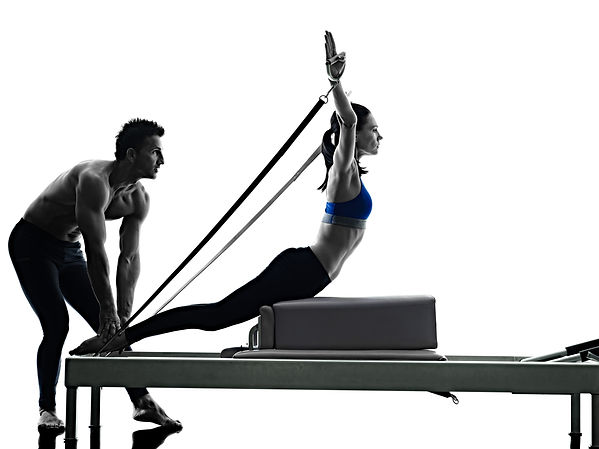 couple pilates reformer exercises fitnes