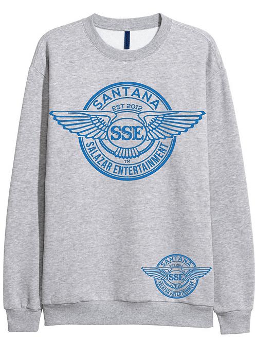 Women Grey Sweatshirt SSE Logo Blue