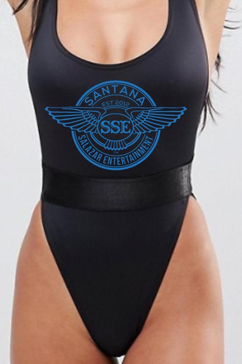 Women Swimsuit SSE Logo Blue