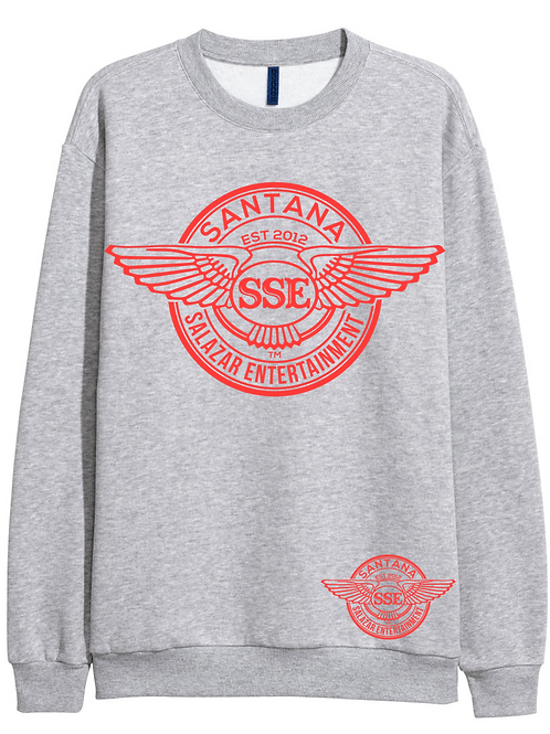 Women Grey Sweatshirt SSE Logo Red