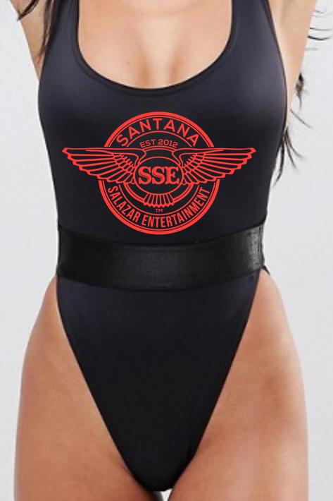 Women Swimsuit SSE Logo Red