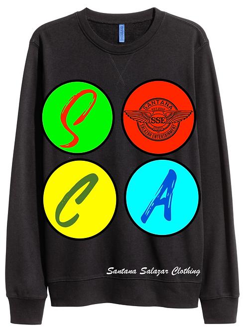 Black Sweatshirt SOCA Multi Color