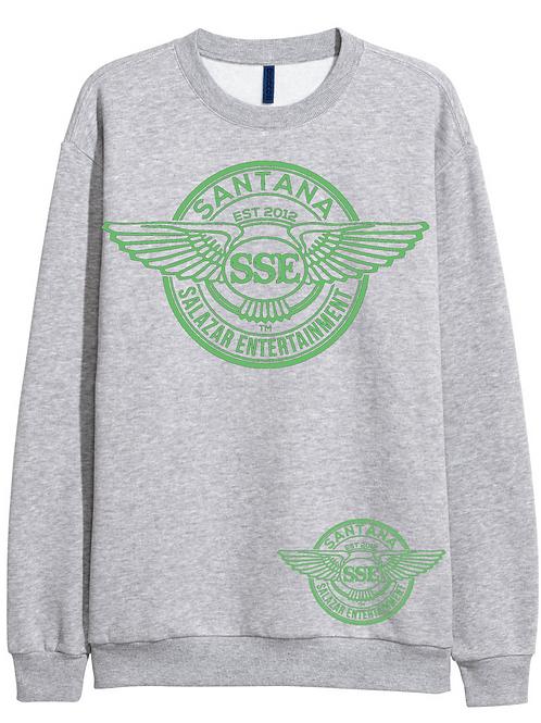 Women Grey Sweatshirt SSE Logo Green