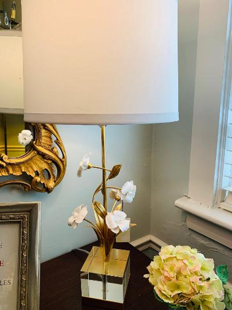 Chelsea House Gold Orchid Lamp