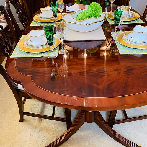 Flame Mahogany Dining Table
