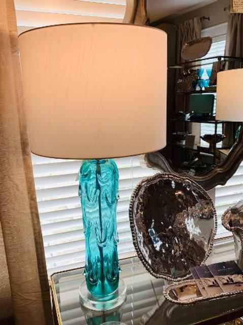 Aqua Glass Lamp