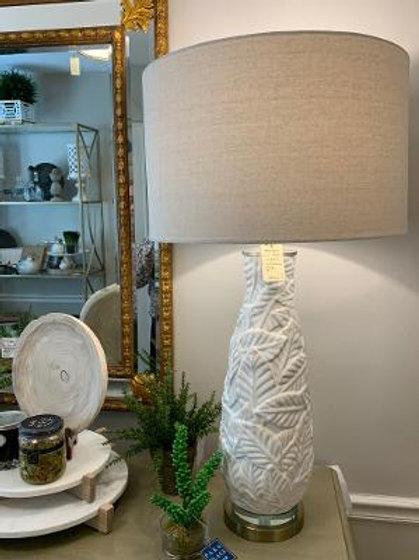 Ceramic Lamp - Leaf Motif
