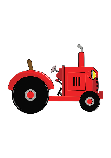 Cartoon Tractor Funny Farmers