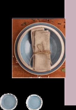 Terra azul plato llano