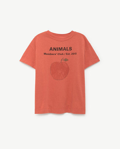 The Animals Observatory ROOSTER T-SHIRT RED PEACH
