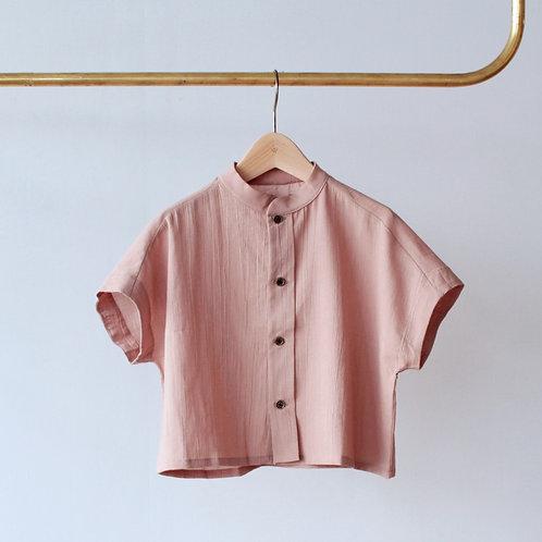 LITTLE CREATIVE FACTORY  Ballet Button Shirt MAUVE