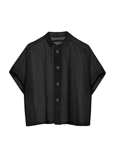 LITTLE CREATIVE FACTORY  Ballet Button Shirt BLACK
