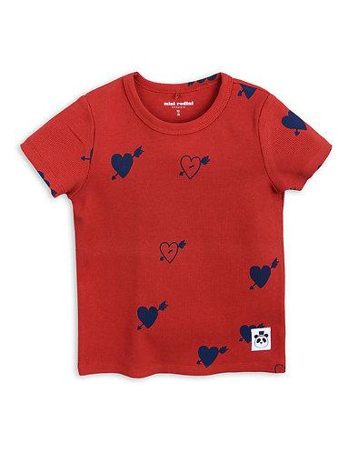 mini rodini Heart rib RED