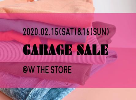 2/15-2/16 初のGARAGE SALE@店舗 開催します!