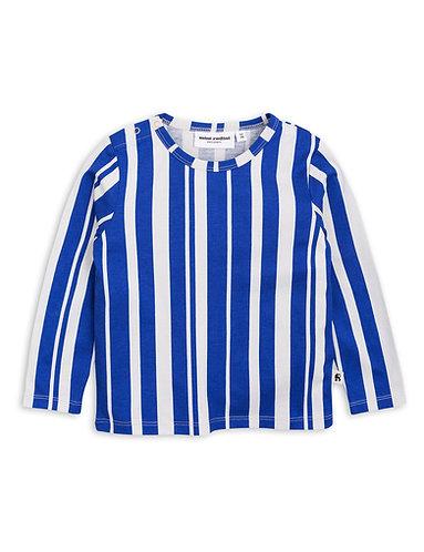 mini rodini Odd stripe Ls tee blue