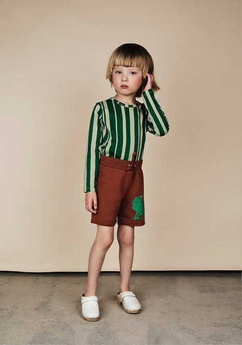 mini rodini Odd stripe Ls tee green