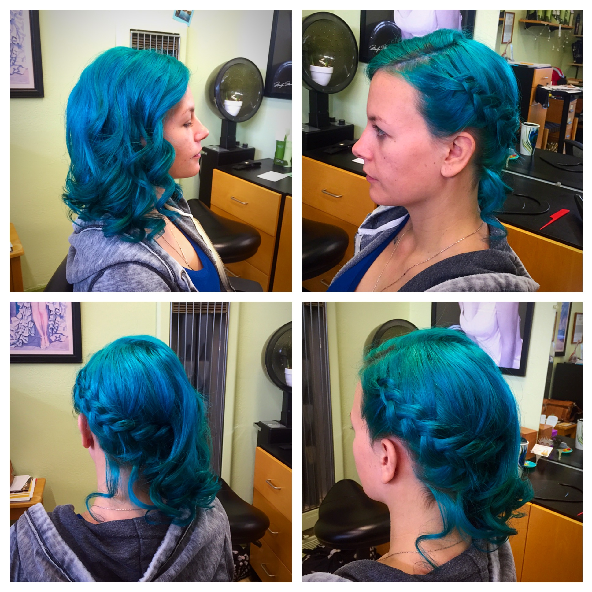 Teal Wedding Hair