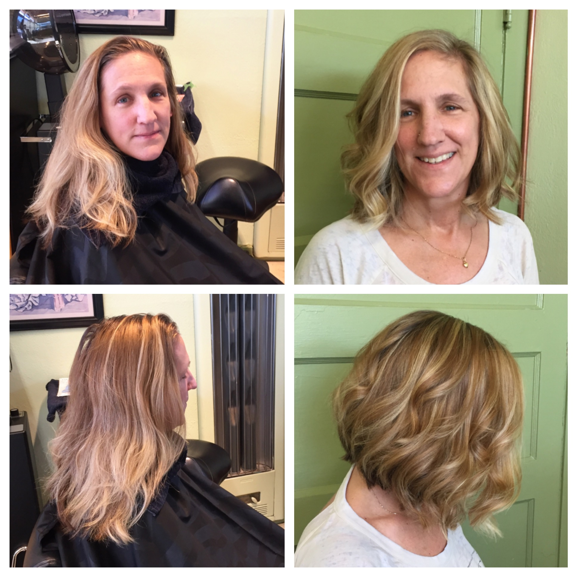 A-line Bob w/ Highlights