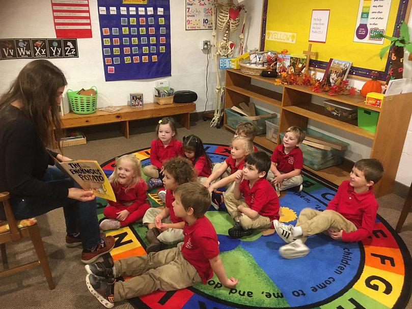 Story Time St. Matthew Lutheran Preschool Port Angeles, Washington