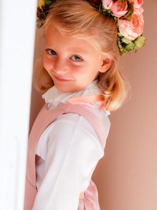 Robe fille rose