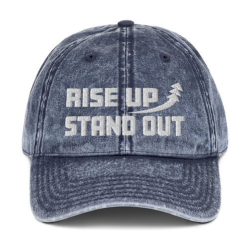 RISE UP STAND OUT Vintage Cotton Twill Cap