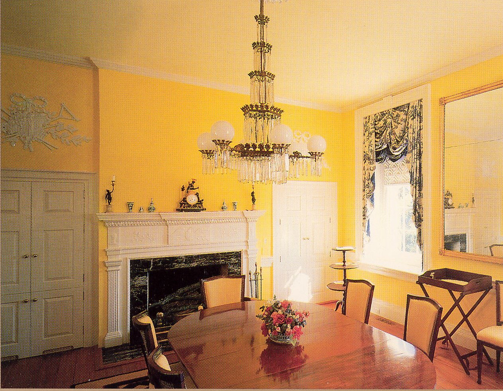 The Dining Room within the Clover Forest Plantation Manor Home