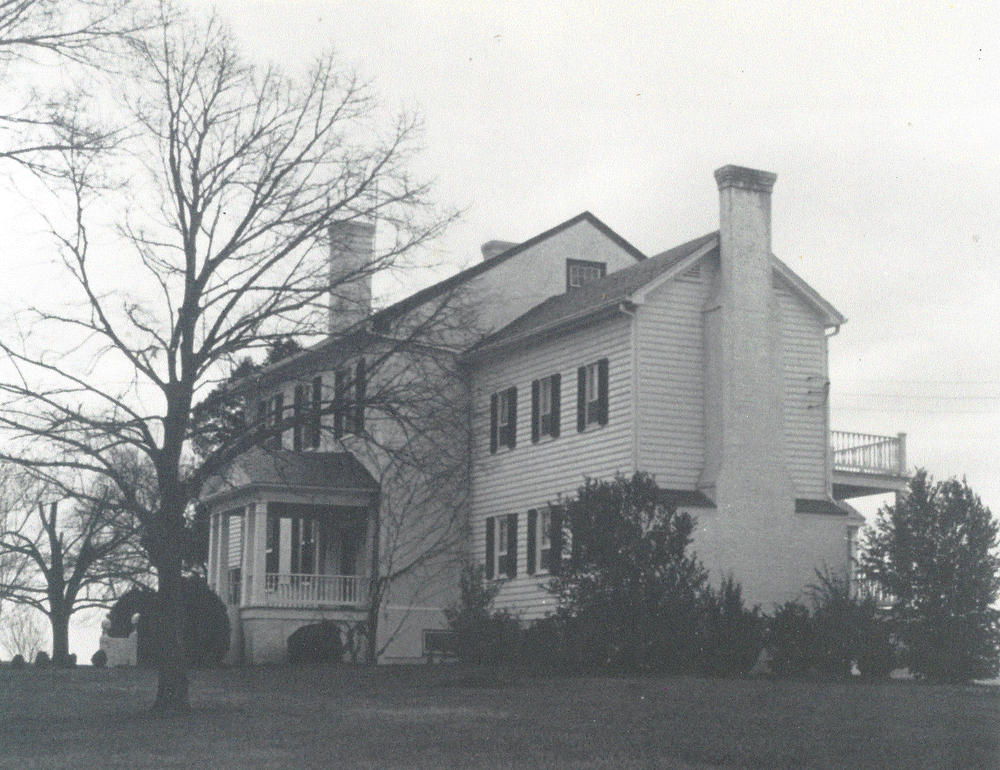 The Clover Forest Plantation Manor Home pre-1950 | Jane Saunders photo courtesy of the Goochland Garden Club