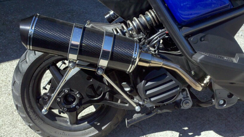 PG B3 exhaust & PG mono shock kit