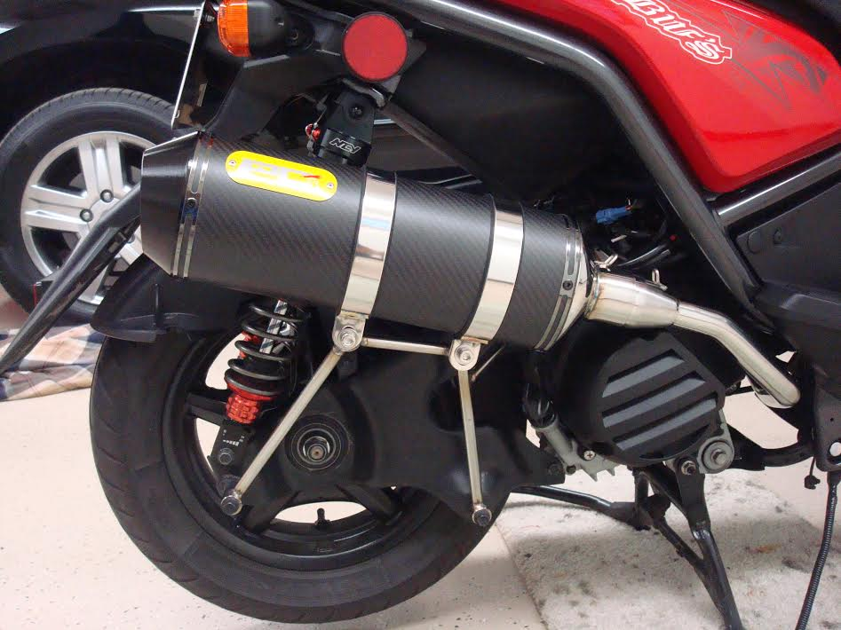PG U2 dry carbon exhaust system