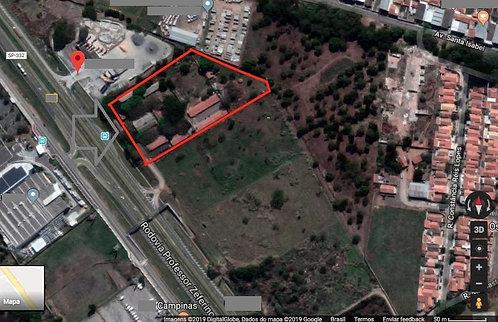Vende Área 18.000 m² Total na Rod. Prof. Zeferino Vaz altura do Km 116 -Campinas