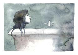 La petite sirène au bain
