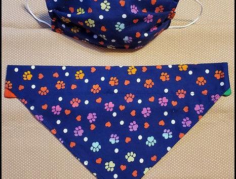 Multi colored bandanna